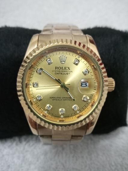 Relógio Feminino Rolex A Prova Dágua Aço Inoxidável Dourado