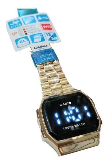 Reloj Casio Touch Dorado, Negro, Tornasol.