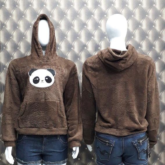 Blusa Frio Com Panda Stampa Na Front 10kit