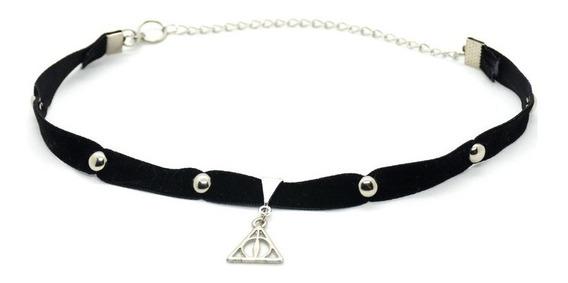 Choker Collar Reliquias De La Muerte - Harry Potter Licencia
