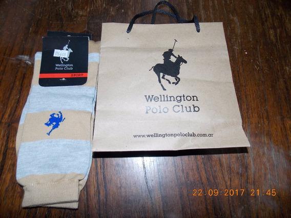 Medias Sport Beige Y Gris Wellington Polo Club 85% Algodon