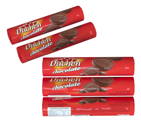 Biscoito Recheado Pacote Duchen Chocolate 135g 1 Unidade