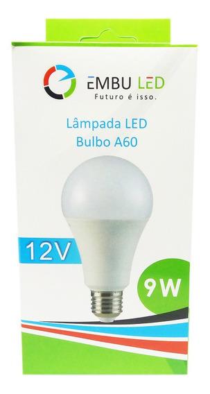 Kit De 3 Lâmpadas Led Bulbo Eco 9w 12v Branca S Juro