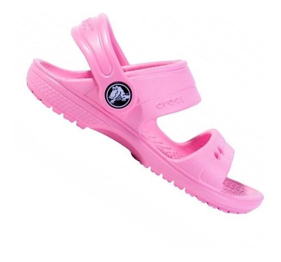 Sandália Crocs Papete Infantil Menina Classic Sandal K Rosa