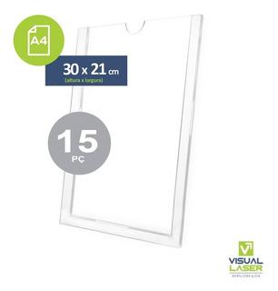 Display De Parede Acrílico A4 Porta Folha 21x30cm 15 Similar