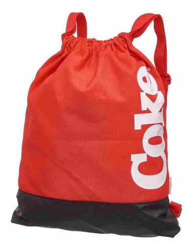 Imagem 1 de 3 de Mochila Saco Esportivo Coca Cola Bold Red