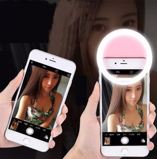 5 Un Clipe Anel Led Flash Selfie 3 Nívei Luz Celular Notebok