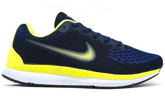Tênis Nike Zoom Pegasus 34 Azul Marinho E Verde Promação