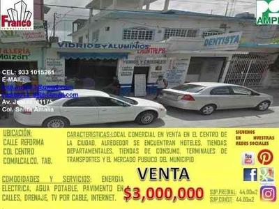 Local Comercial En Venta Comalcalco Centro