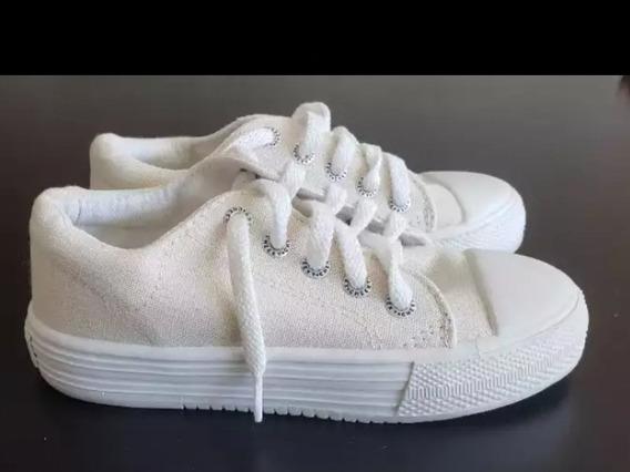 Zapatillas De Lona T.30 La Plantilla Tiene 20 Cm
