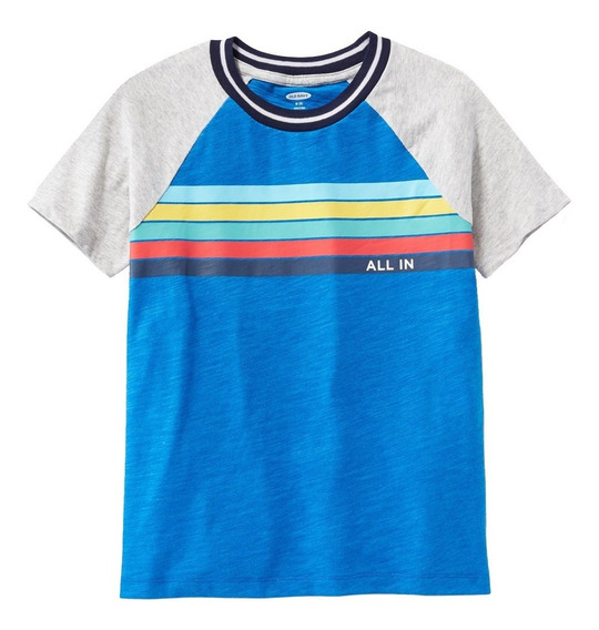 Playera Niño Manga Corta Estampada Al Frente 392594 Old Navy