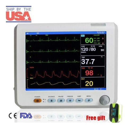8 Portátil Multi-parámetro Vital Signos Monitor Pacien-7293