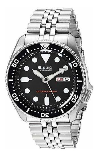 Seiko. Modelo Skx007kd. Reloj Negro Para Hombre. Reloj Impor
