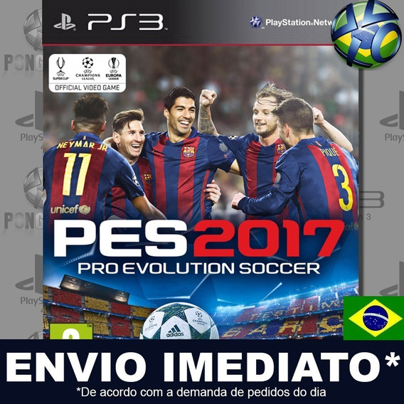 Pes 17 Pro Evolution Soccer 2017 Ps3 Digital Psn Dublado Br