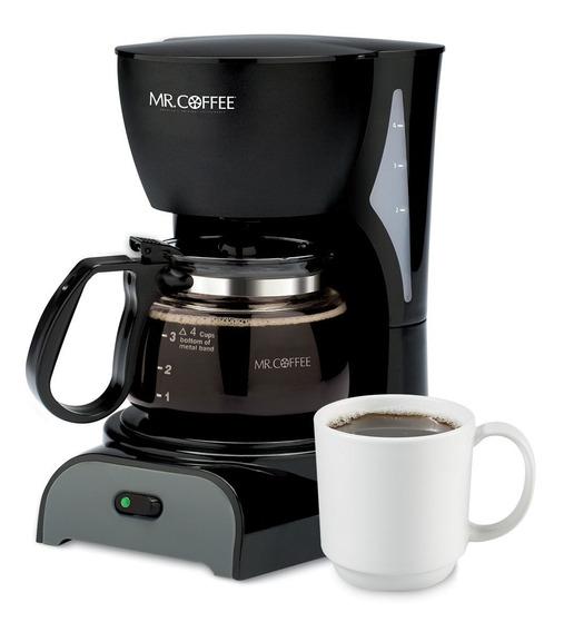 Cafetera 4 Tazas Filtro Permanente Negra Mr. Coffee Dr5-np