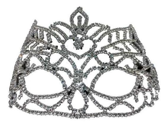 Antifaz De Metal Con Strass Mariposa 15 Años Novias Reinas