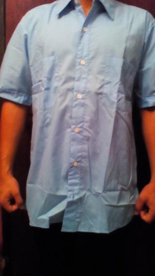 Camisas Manga Corta Azul Cielo