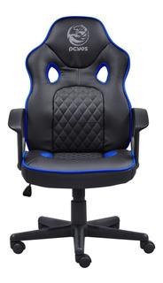 Cadeira Gamer Giratória Mad Racer Master Sti Preta E Azul