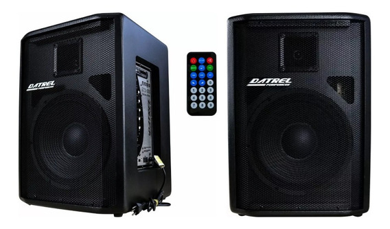 Kit Caixa Ativa + Passiva 500w Rms Bluetooth Sd Usb P10
