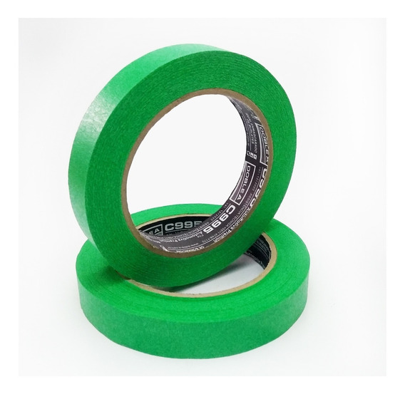 Cinta De Enmascarar Doble A 18mm Pintor Autos Verde Premium