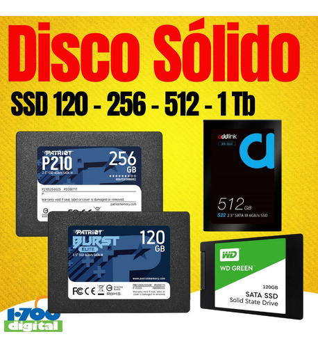 Disco Solido Ssd 120gb Sata Pc Laptop 2.5 Y 240 480 500 Nuev