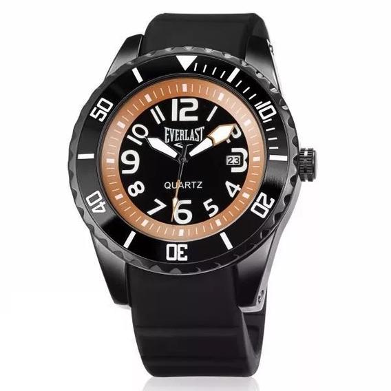 Relógio Masculino Everlast Borracha E514 Preto Caixa Grande