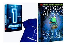 Livro O Jogador N° 1 + Camisa + Guia Mochileiro Das Galáxias
