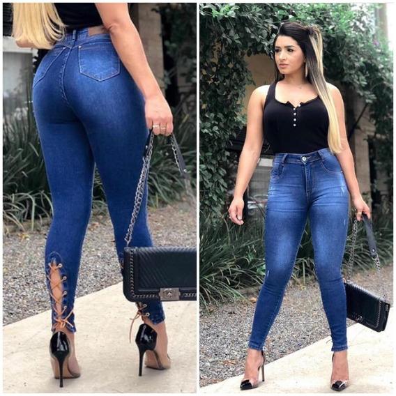 Calça Jeans Skinny Levanta Bumbum Modeladora Lycra Top 0065