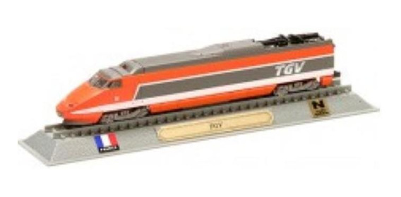 Miniatura Locomotiva Nº 001 Sncf Tgv Sud-est 23000 -frança