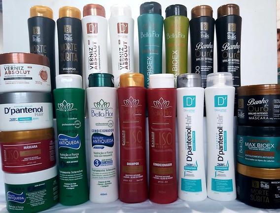 Shampoo + Condicionador + Máscara = 21 Produtos Atacado