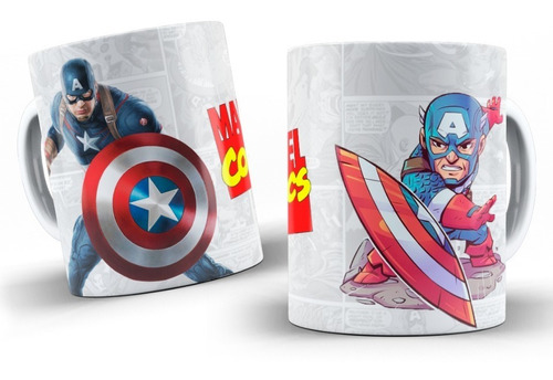 Imagem 1 de 10 de Canecas Personalizadas  Marvel  !!!!