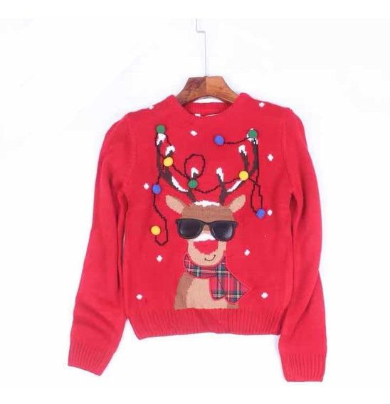 Suéter Navideño, Navidad, Niños Reno