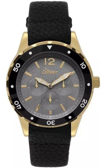 Relógio Condor Masculino Traveller Dourado Co6p29iq/2c