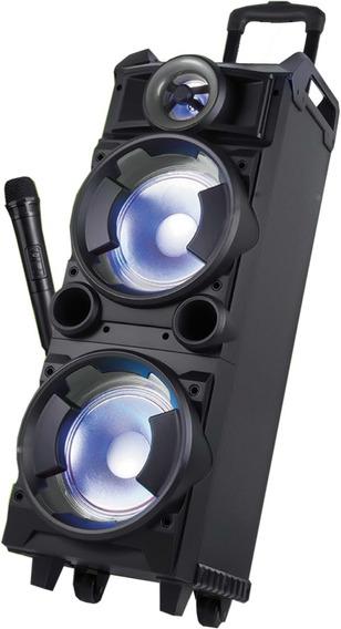 Caixa De Som Amplificada 300w Bluetooth Fm Sd Aux Microfone