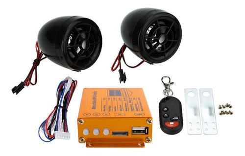 Imagen 1 de 6 de Kkmoon Motocicleta Reproductor De Mp3 Altavoces Audio