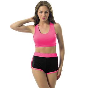 Sexy Mujeres Sports - Set Dos Pieza Contrastar Color Scoop G
