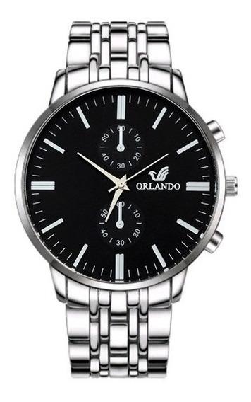 Reloj Hombre Orlando Correa Acero Inoxidable Elegante Casual