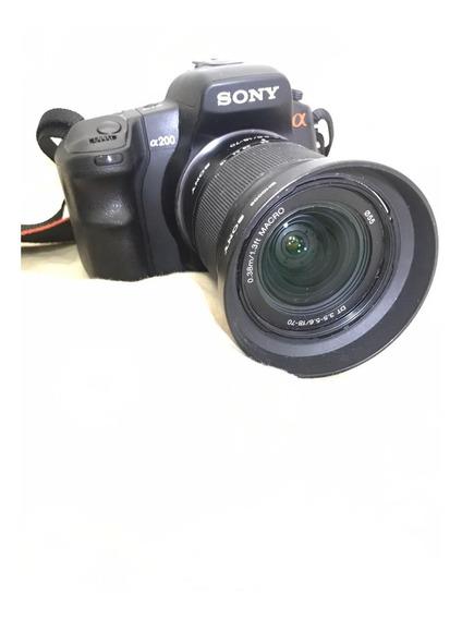 Câmera Sony Alpha 200 Ou A200 - Lindona!!!