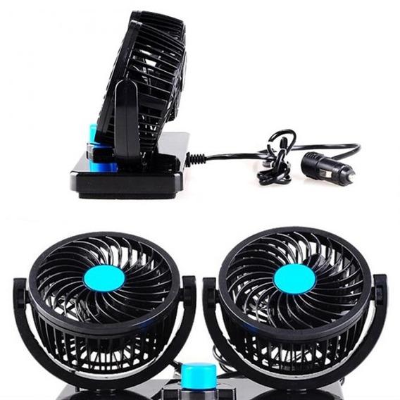 Ventilador Para Carro Duplo Rotativo Veicular Automotivo 12v