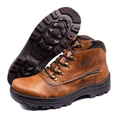 Coturno Adventure Masculino Em Couro Legítimo Stevan Boots