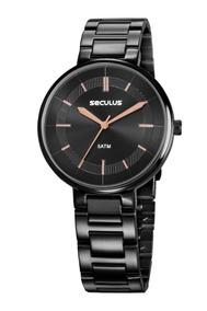 Relógio Feminino Seculus 23634lpsvps3 Promoção Dia Dos Pais