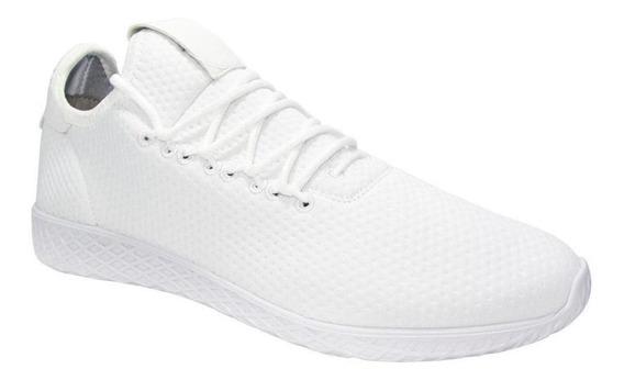 Tenis Hombre Casual Ozono Textil Blanco Urbano Cómodo