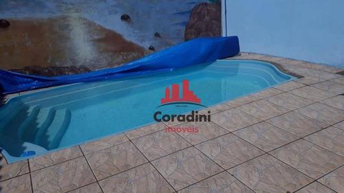 Imagem 1 de 13 de Casa Com 3 Dormitórios À Venda, 90 M² Por R$ 350.000,00 - Parque Itália (nova Veneza) - Sumaré/sp - Ca2188