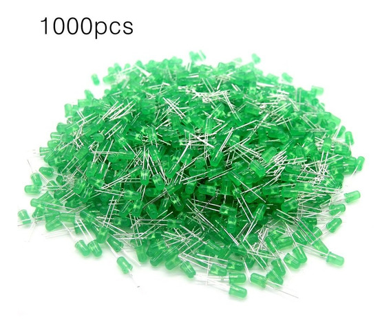 1000pcs 5mm Rodada Led Luz Emissor Diodos Componente Led Lâm
