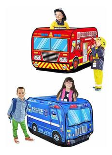 Carpa Plegable Infantil Diseño Auto Policia Bomberos,niños