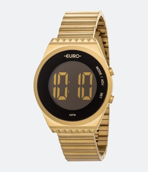 Relógio Euro Fashion Fit Slim Feminino Dourado Eubjt016ad/4p