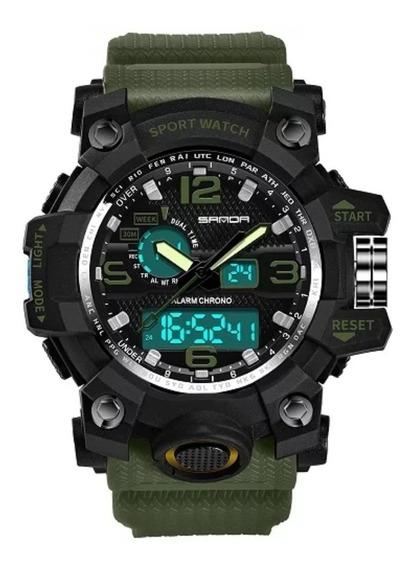 Relógio Masculino Sanda 742 Choque Analógico Digital Esport