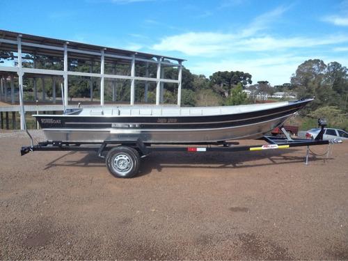 Imagem 1 de 9 de Casco Barco De Aluminio Fortboat Life 500 4,9m