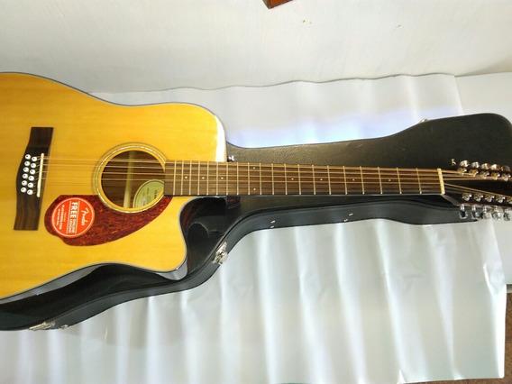 Violão 12 Cordas Fender Cd140sc Com Case