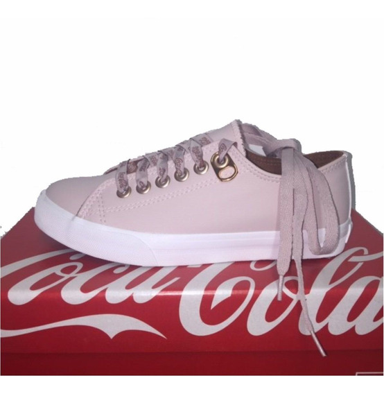 Tenis Coca Cola Basket Floater Cc1597 Feminino Rose
